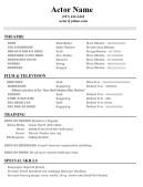 beginner acting resume